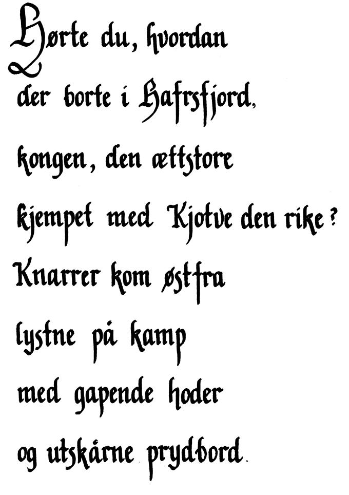gammel gotisk skrift
